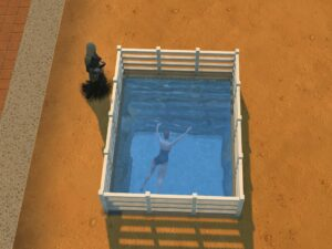 The Sims Drowning Top Ten Ways to Kill Your Sim #3