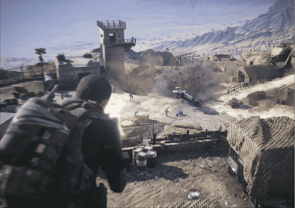in game footage from wildlands