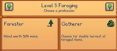 Stardew Valley Forester Or Gatherer Foraging Skill Guide