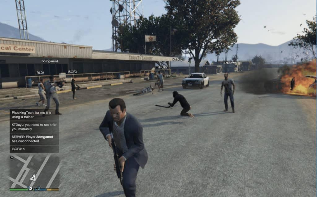 grand theft auto v cross-platform play online co-op screenshot