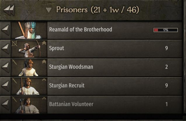how to recruit prisoners bannerlord prisoner tab