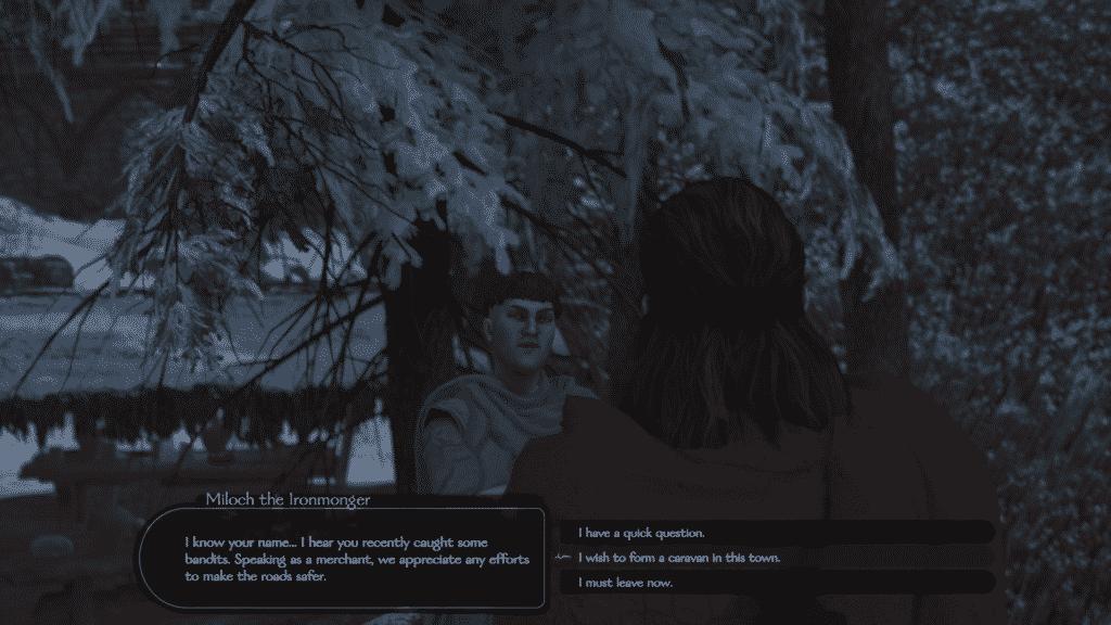how to start a caravan in game screenshot