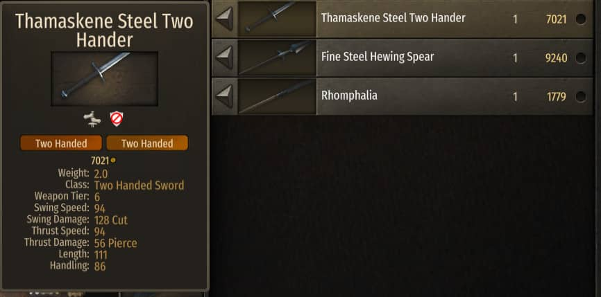 best two handed weapon bannerlord