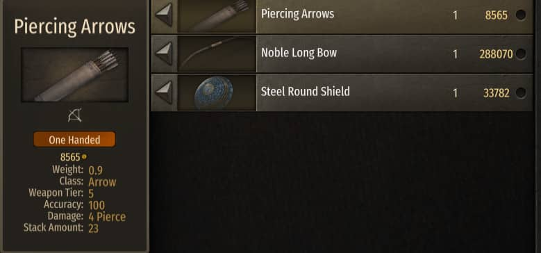 best arrows bannerlord