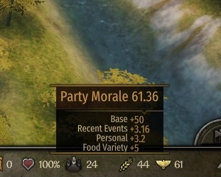 how to raise party morale bannerlord