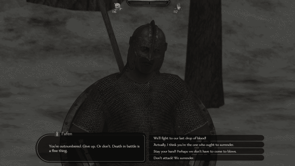 how to make peace bannerlord dialogue screen 1