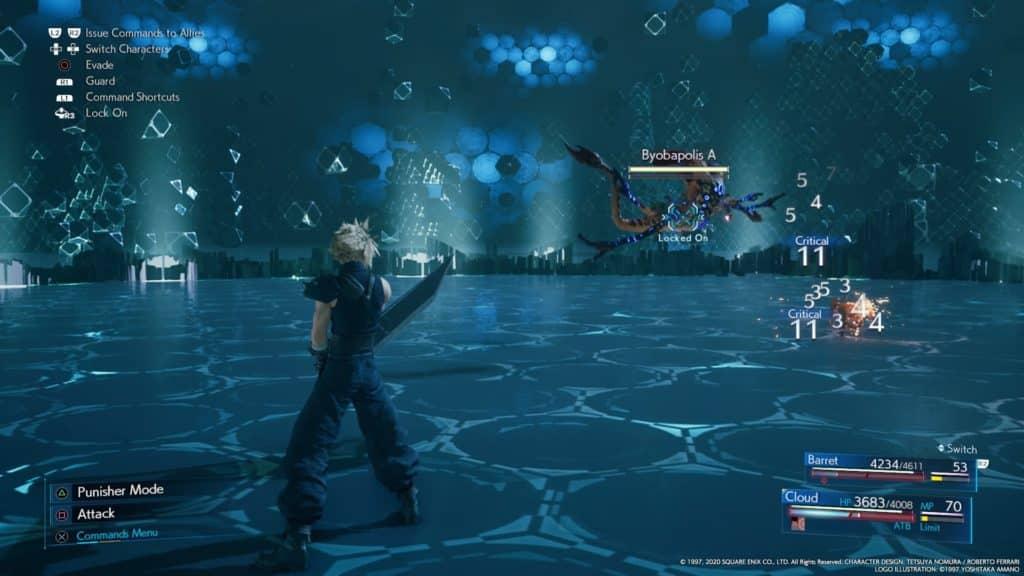 Shinra Combat Simulator Challenges FF7 remake