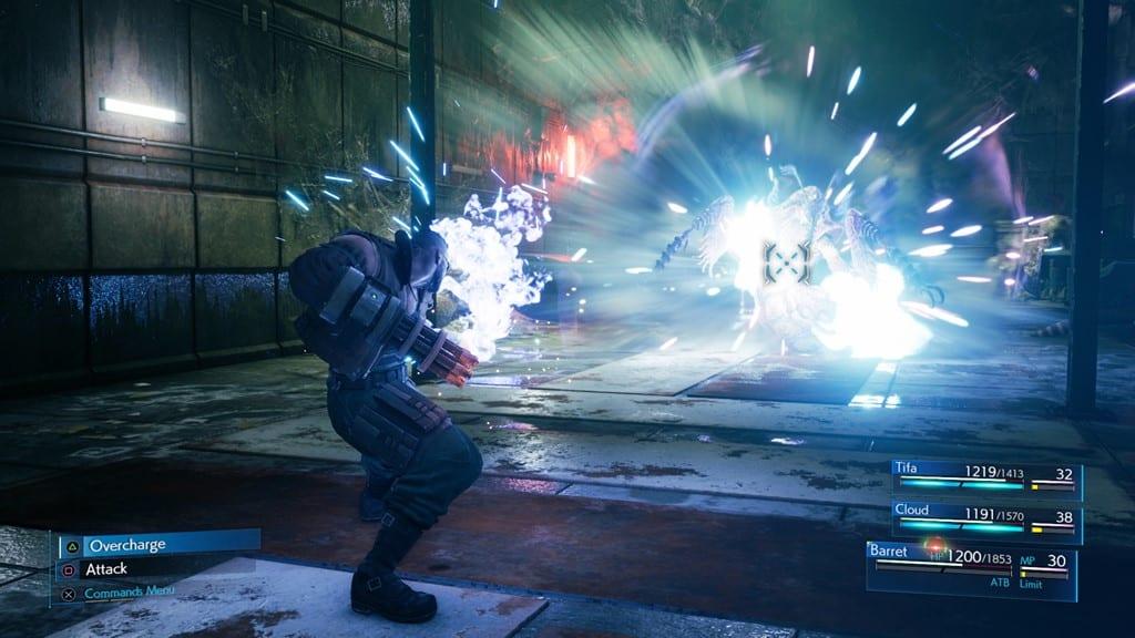 ff7 remake combat tips in game screenshot