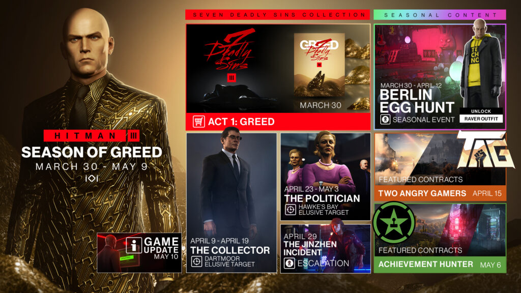 Hitman 3 Season of Greed Roadmap Guide